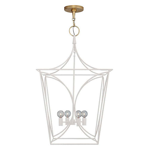 Cavanagh Medium Lantern, Light Cream