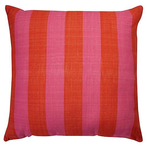 Yorkville 20x20 Tribal Pillow, Pink/Orange