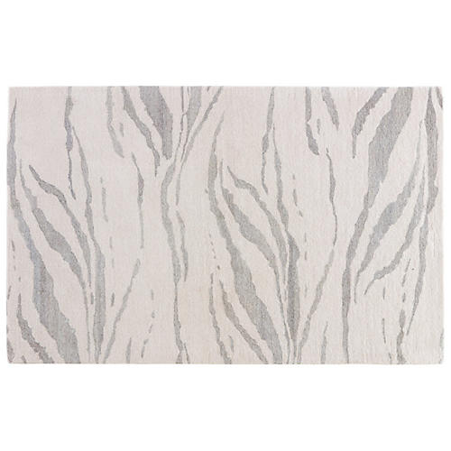 Abstract Pattern Rug, Light Cream/Platinum