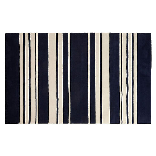 Astor Stripes Rug, Navy