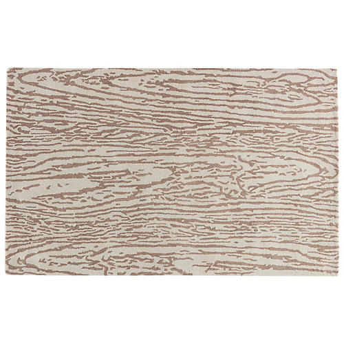 Gramercy Abstract Rug, Dark Straw