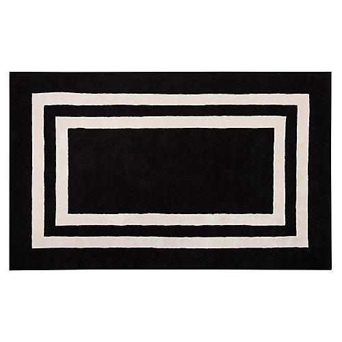 Gramercy Boarders Rug, Black