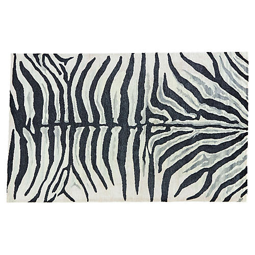 Murray Animal Rug, Light Cream/Black
