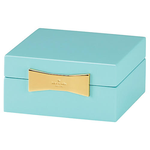 Garden Drive Square Jewelry Box, Turquoise