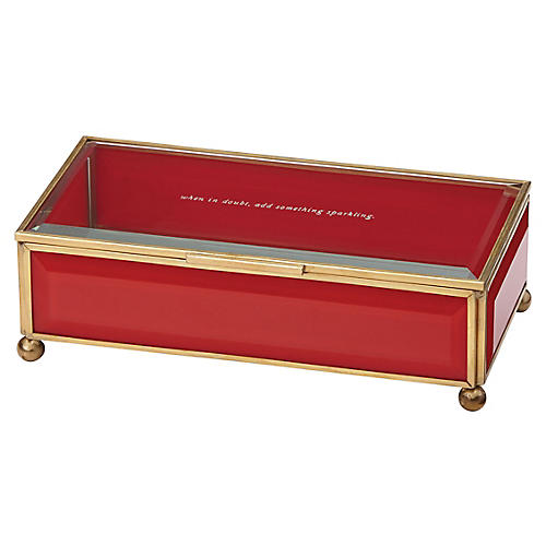 Out of the Box Jewelry Box, Red