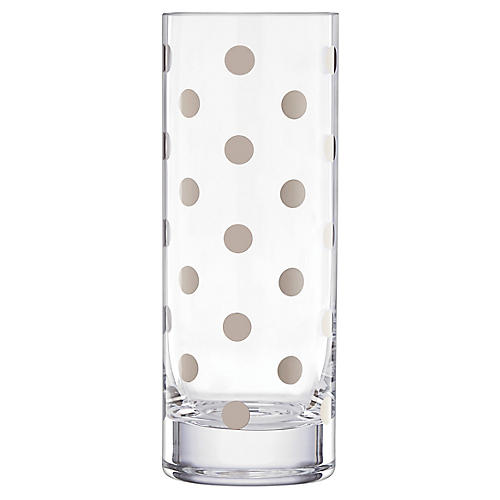 """10"""" Pearl Place Vase, Platinum"""