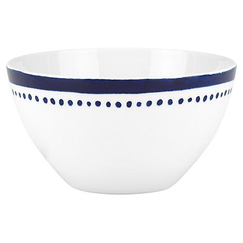 Charlotte Street West Soup Bowl, White/Blue