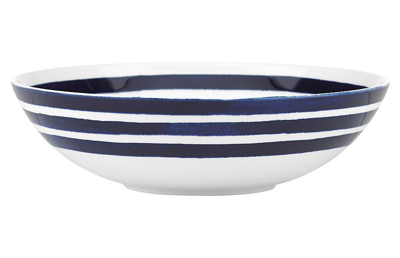 Charlotte Street Pasta Bowl, White/Blue