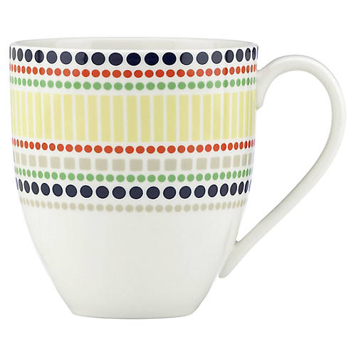 Hopscotch Drive Mug, White/Multi