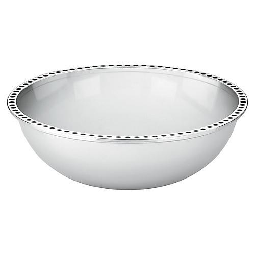 Pierrepont Place Serving Bowl, Silver/Black