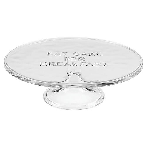 Eat Cake for Breakfast Cake Stand, Clear