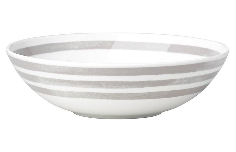 Charlotte Street Pasta Bowl, White/Gray