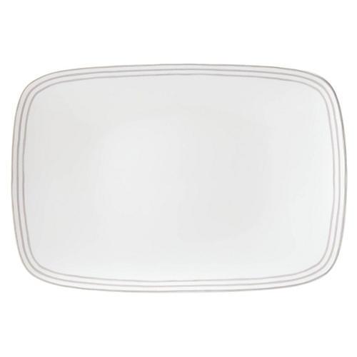 Charlotte Street Oblong Platter, White/Gray