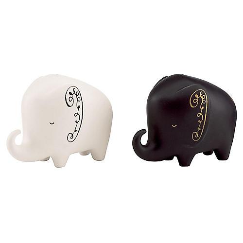 S/2 Woodland Park Elephant S & P Shakers, Multi