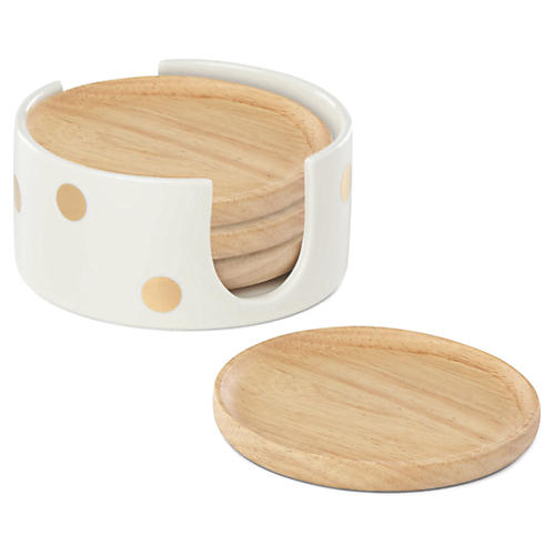 S/4 Melrose Ave. Coasters, Natural/Cream