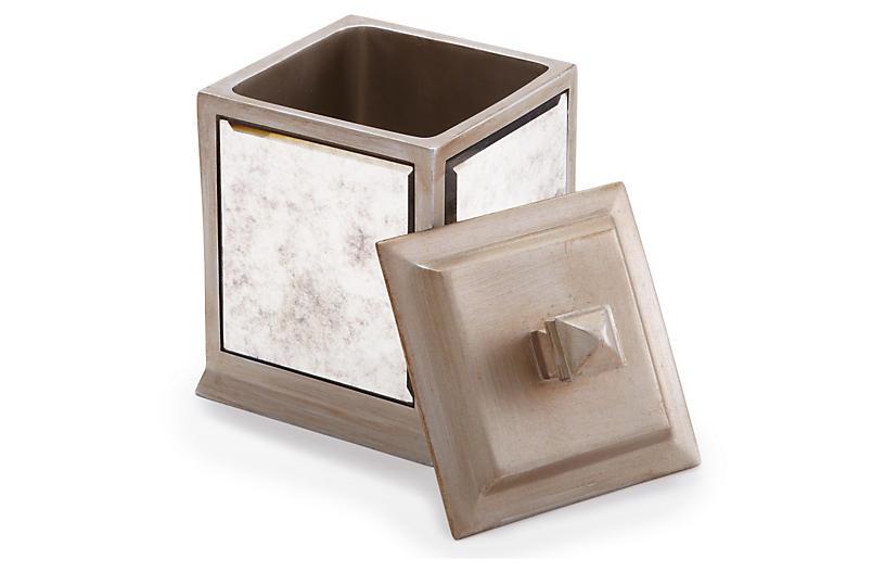 Palazzo Cotton Jar, Antiqued Mirror