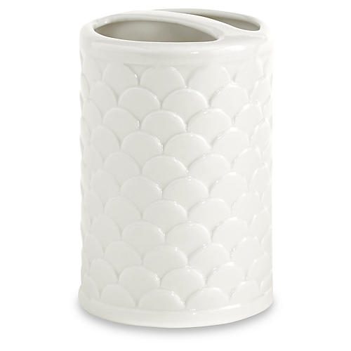 Scala Porcelain Toothbrush Holder, White