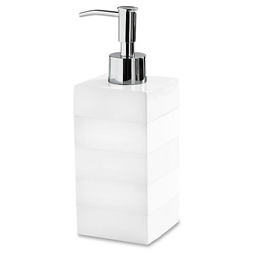 Cabana Lotion Dispenser, White