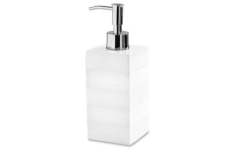 Cabana Lotion Dispenser, White