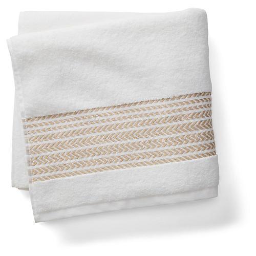 Baja Bath Towel, Beige