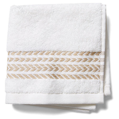 Baja Washcloth, Beige