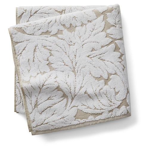 Foglia Bath Towel, Taupe