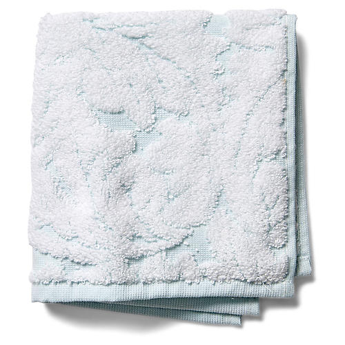Foglia Washcloth, Clearwater Blue