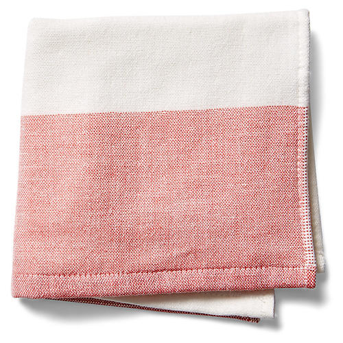 Greenwich Washcloth, Coral
