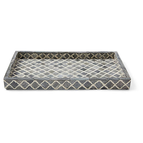 Marrakesh Wide Tray, Gray