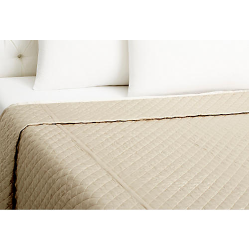 Quilted Coverlet, Pebble