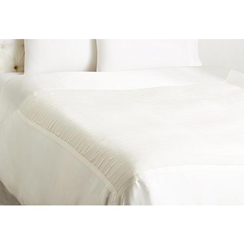 Chiffon Duvet Cover, White
