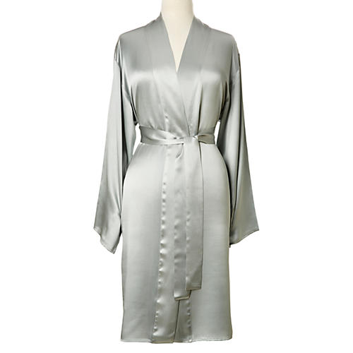 Single-Sided Short Robe, Raindrop