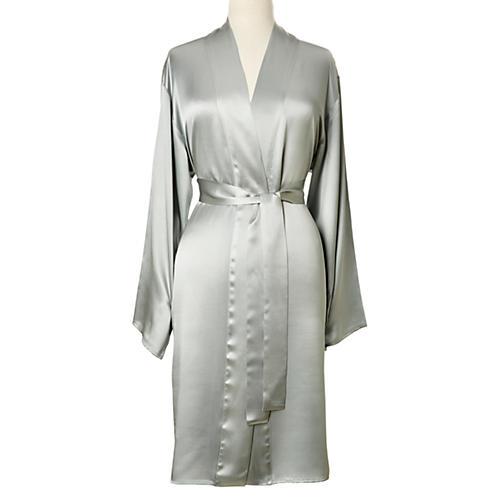 Single-Sided Short Robe, Raindrop