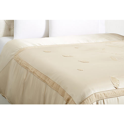 Leaf Duvet Cover, Ivory