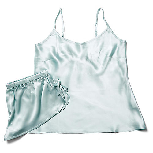 Classic Silk Cami Set, Snow Cone