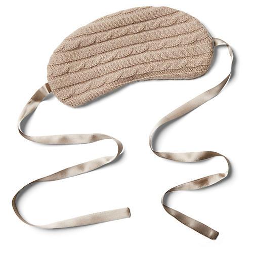 Cashmere Silk-Filled Eye Mask, Smoke