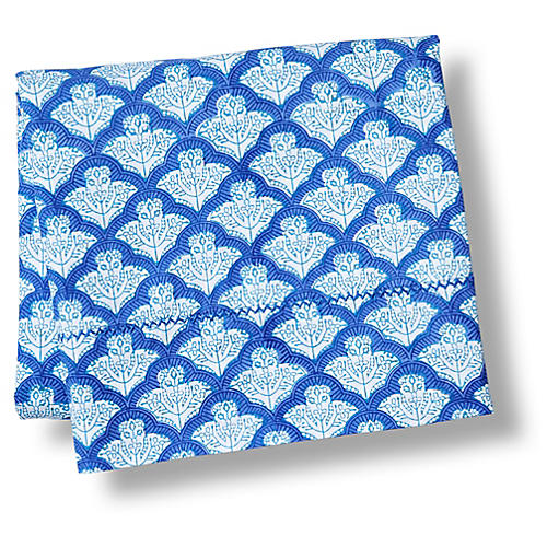 Jemina Flat Sheet, Blue