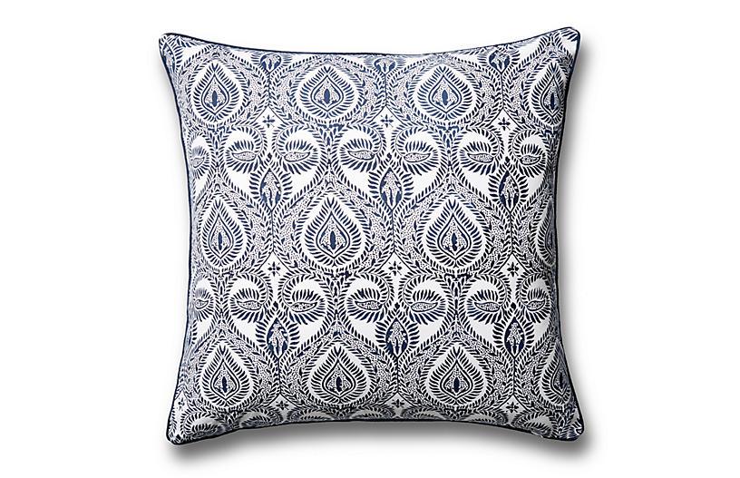 Cecila Pillow Cover, Navy
