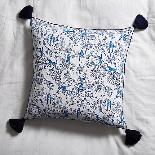 Charlie 18x18 Pillow, Bright Blue