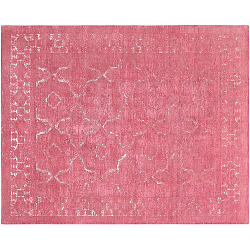"""7'11""""x10' Overdyed Hand-Knotted Rug, Magenta"""