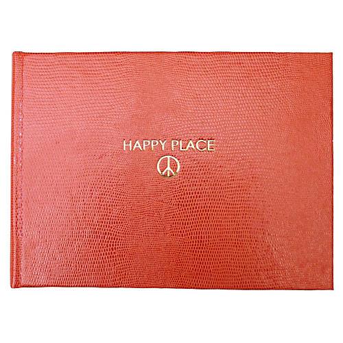 Happy Place Guest Book, Orange