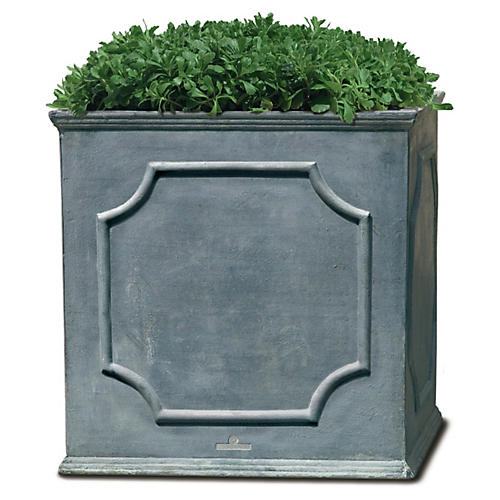 "15"" Cumberland Square Planter, Lead Lite"