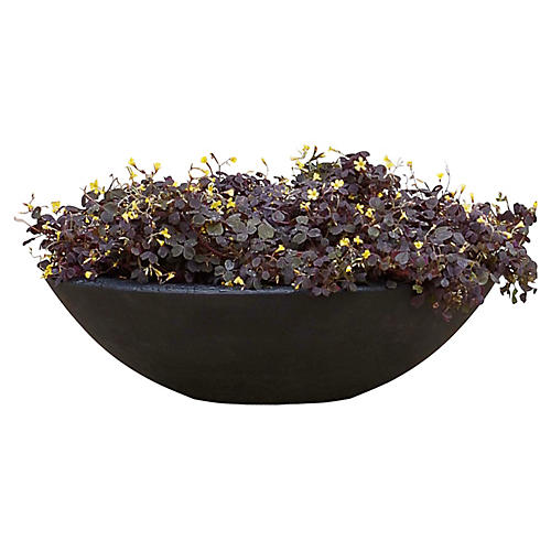"24"" Low Zen Bowl, Black"