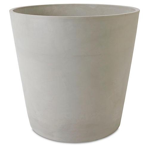 "24"" Ecopot Round Planter, Stone"