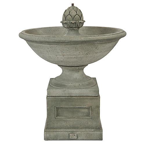 "36"" Williamsburg Fountain, Distressed Gray"