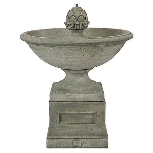 "36"" Williamsburg Fountain, Distressed Gray"