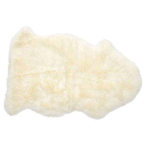 2'x3' Sheepskin Rug, Natural