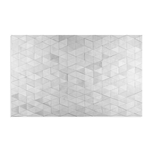 Mosaic Hide Rug, Gray