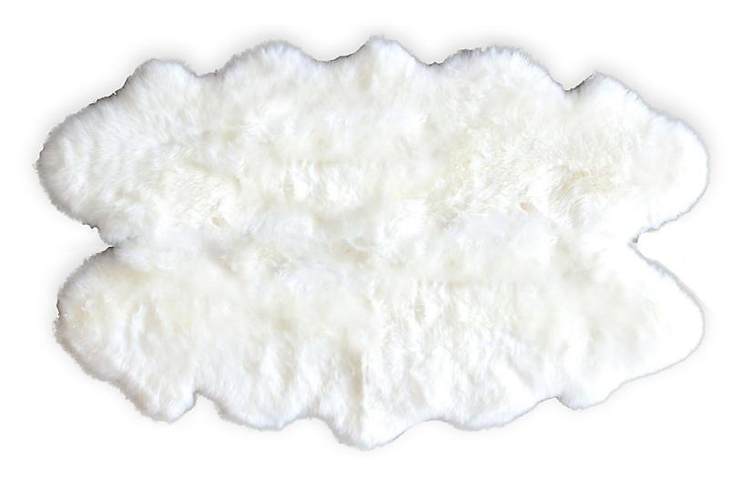 4'x6' Wellington Sheepskin, Ivory