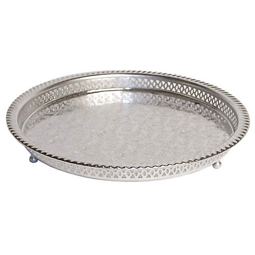 Jalen Serving Tray, Silver